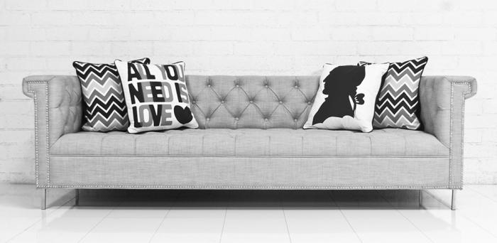 Delightful Sinatra Sofa In Cambria Grey Linen