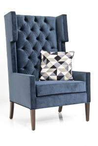 Tangier Wing Chair in Mystere Eclipse Velvet