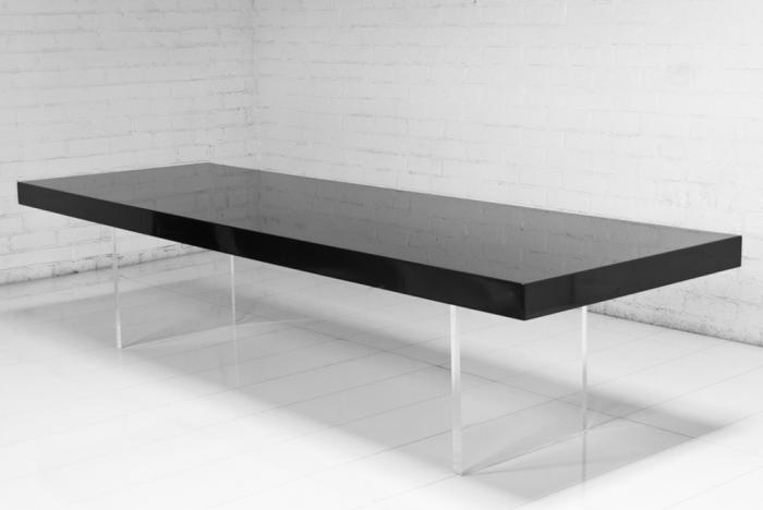 Delicieux Lucite Plinth Leg Dining Table