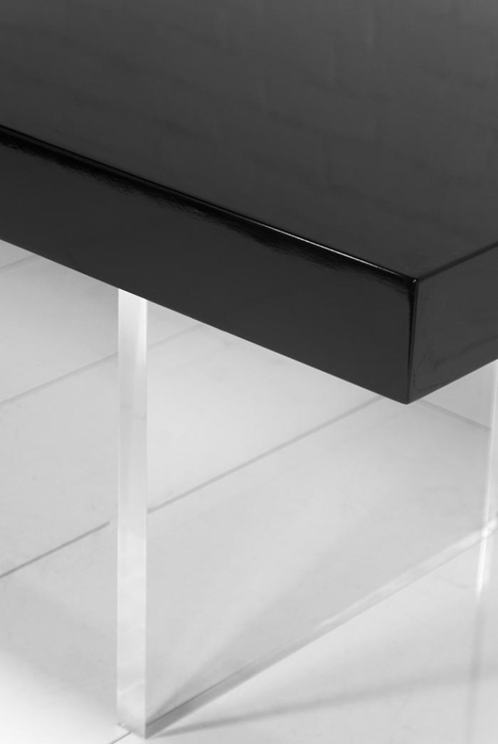 Www Roomservicestore Com Lucite Plinth Leg Dining Table