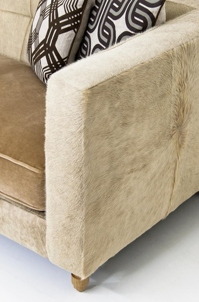 Www Roomservicestore Com Blonde Cowide And Ecru Mohair