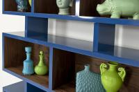 Kubist Bookshelf in Blue