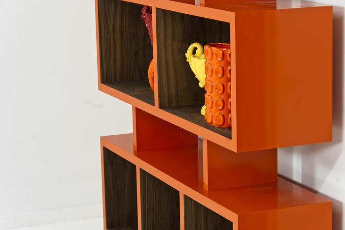 Kubist Bookshelf In Orange