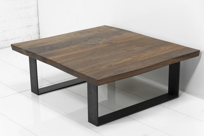 Great Eco Slab Industrial U Leg Coffee Table