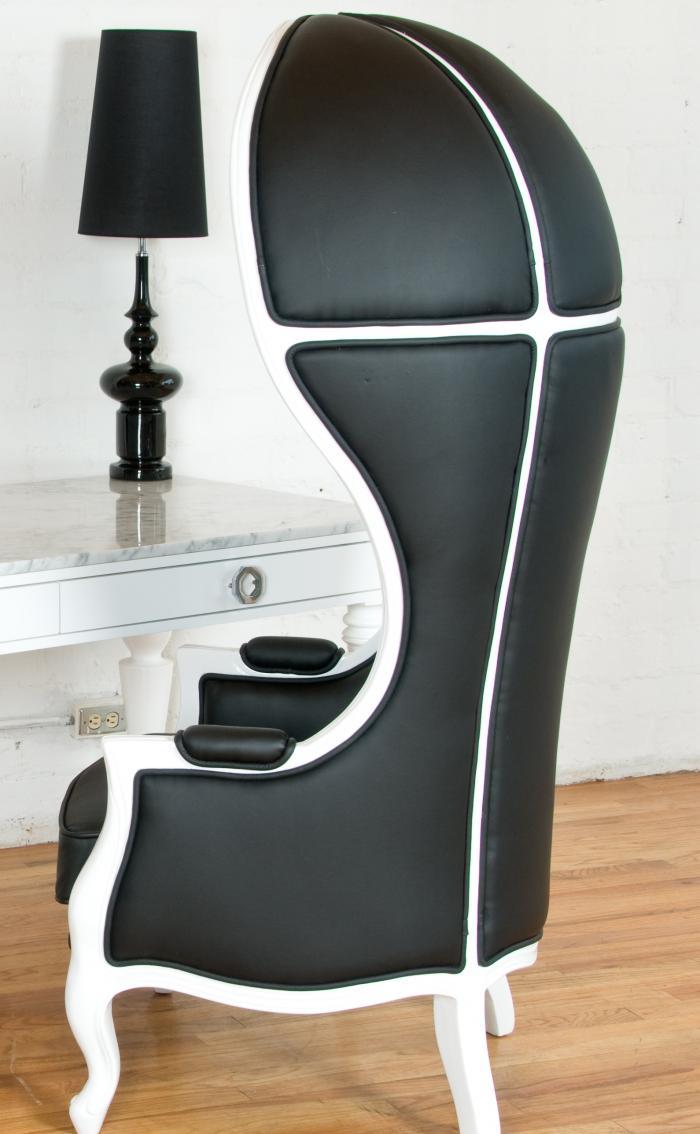 Black U0026 White Balloon Chair
