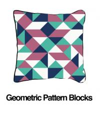 Geometric Blocks Lavender