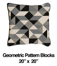 Geometric Blocks Black Oatmeal