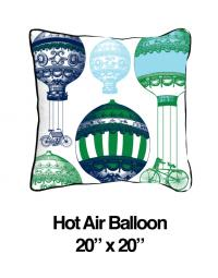 Hot Air Balloon Green/Blue