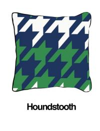 Houndstooth Blue/Green (Temporarily Out of Stock)