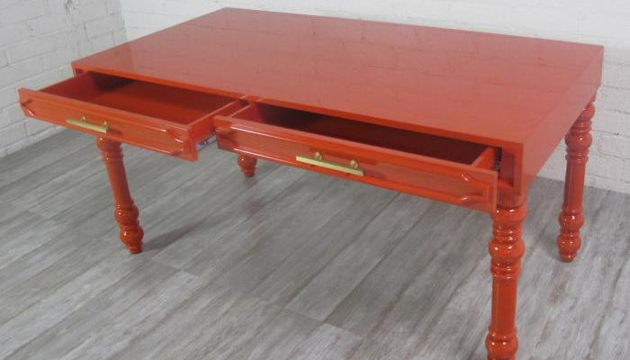Mandarin Orange Hollywood Desk