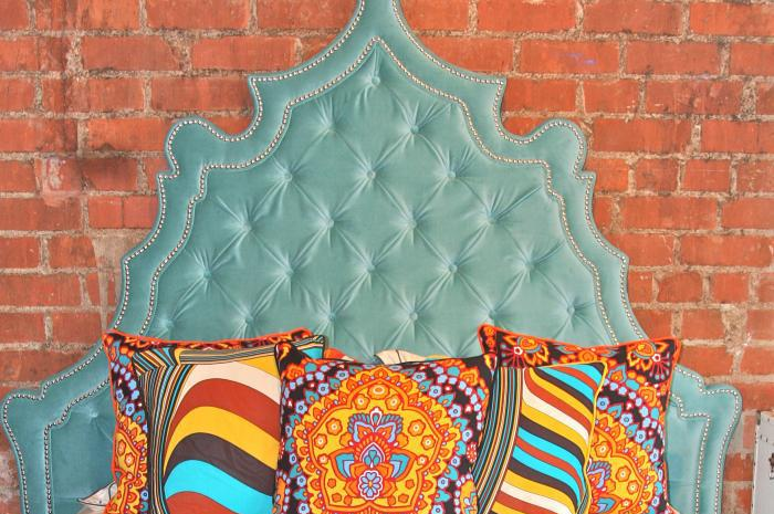 Aqua Velvet Casablanca Headboard Only