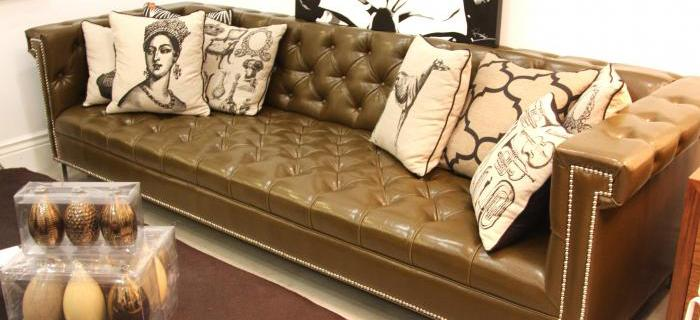 Sinatra Sofa in Olive Faux Leather