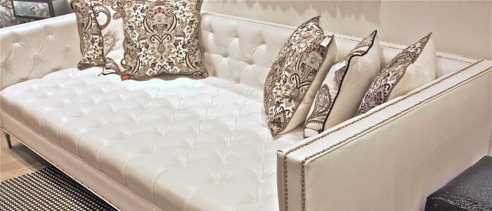 wwwroomservicestorecom White Faux Leather Tufted Deep Sofa