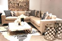 Capri Sectional - Cream Velvet
