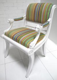 Striped Edward Chair