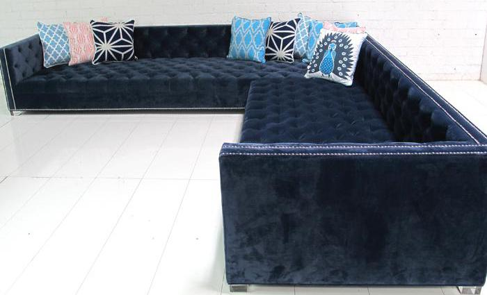 Navy Tufted New Deep Sectional