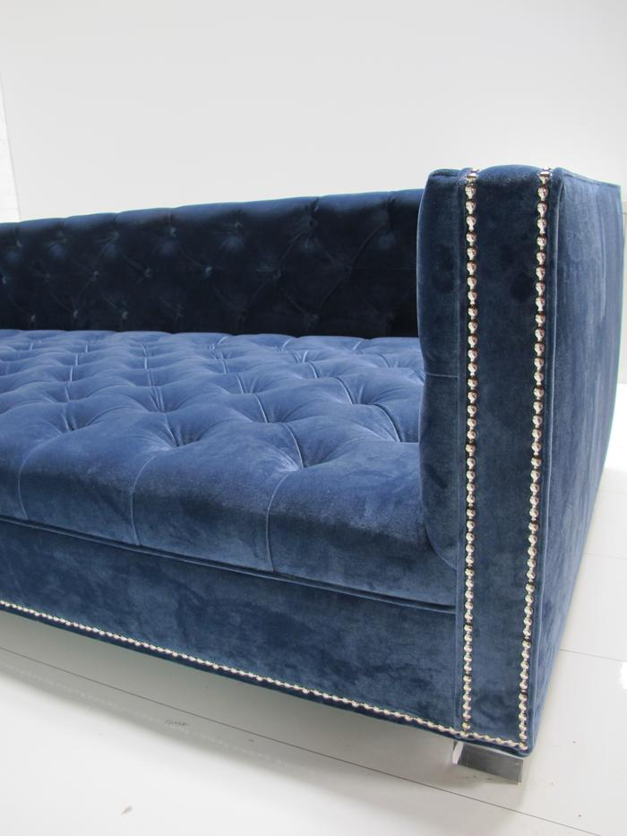 Navy Tufted Headboard By High Fashion Home: Navy Tufted New Deep Sectional