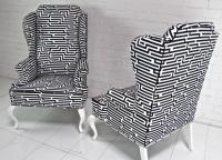 Geometric Brixton Wing Chair