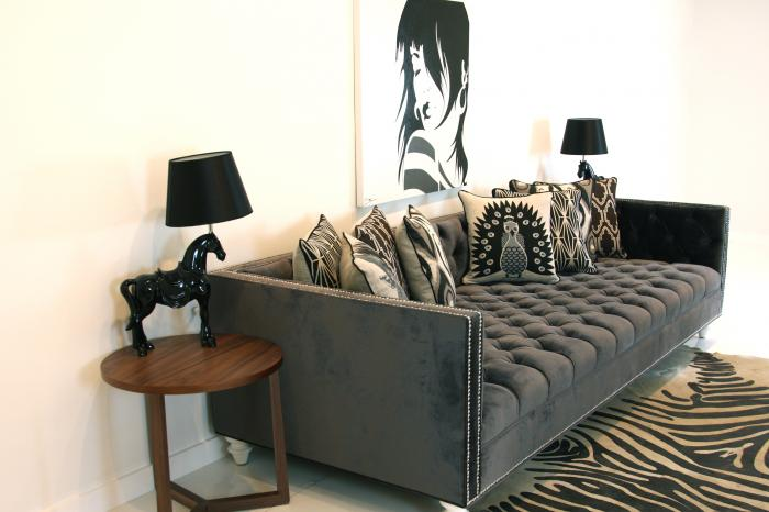 www.roomservicestore.com - Tufted Deep Sofa in Charcoal Velvet