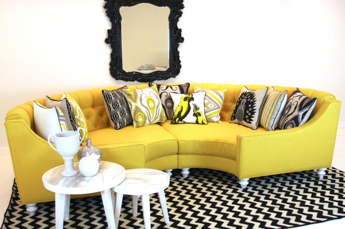 Yellow Circle Sectional