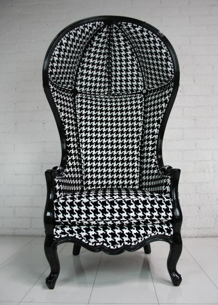 houndstooth balloon chair. Black Bedroom Furniture Sets. Home Design Ideas