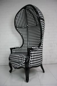 Houndstooth Balloon Chair