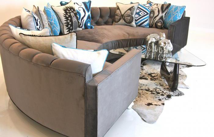 Tufted Circle Sectional : circle sectional couch - Sectionals, Sofas & Couches