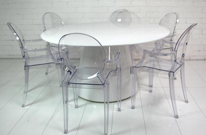 White Mod Dining Table