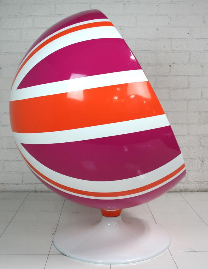 custom painted ball chair