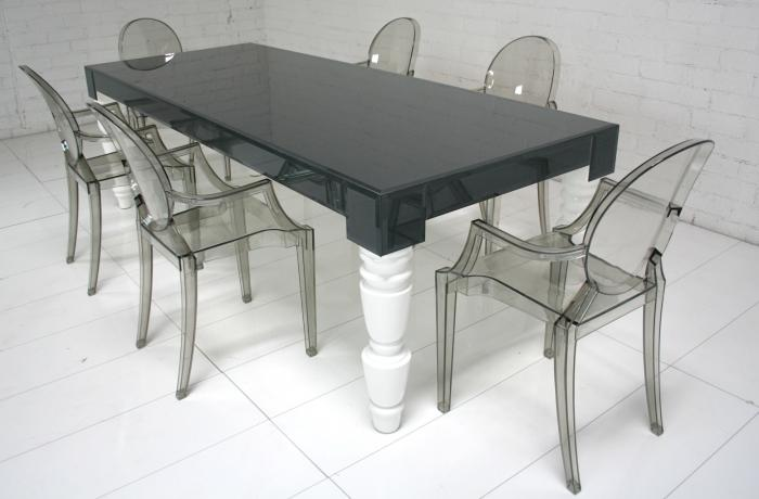 Grey Glass Mixed Up Dining Table