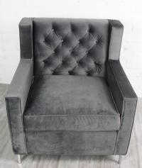Beverly Hills Arm Chair-Charcoal Gray