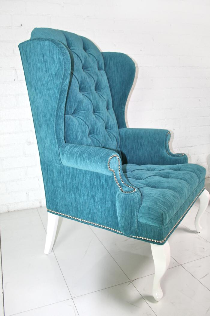 Brixton Wing Chair in Turquoise