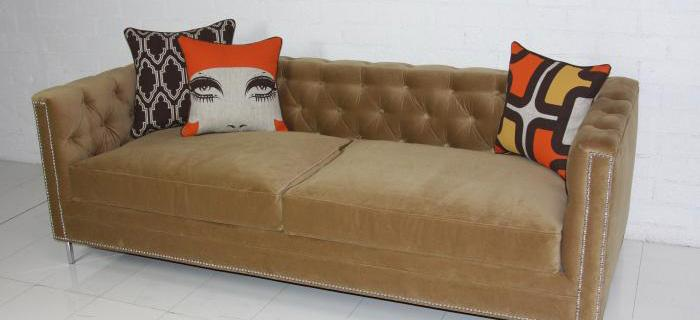 Petite Hollywood Sofa with Down Seat Cushions