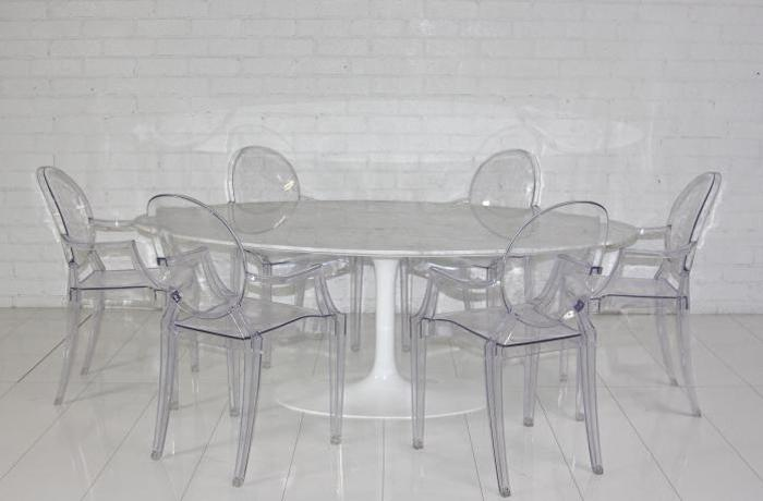 Wwwroomservicestorecom Eero Saarinen Style Oval Marble Dining Table - Eero saarinen tulip table and chairs