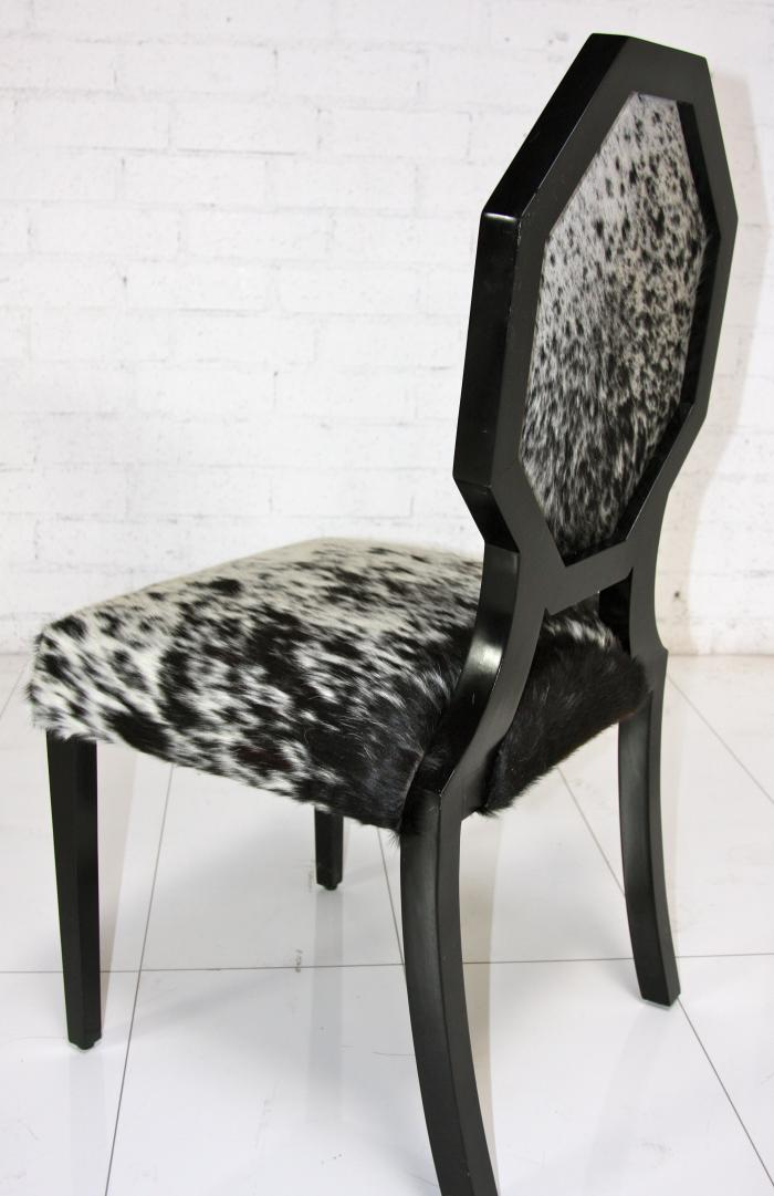 Cowhide Octagon Dining Chair