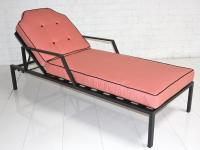 Hollywood Sunlounger in Pink with Black Piping