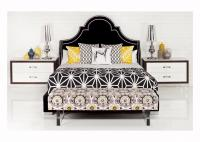 Hollywood Bed in Black Velvet