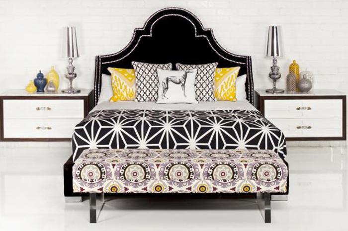 Bel Air Bed In Black Velvet