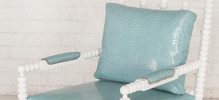 Acapulco Chair with Turquoise Croc