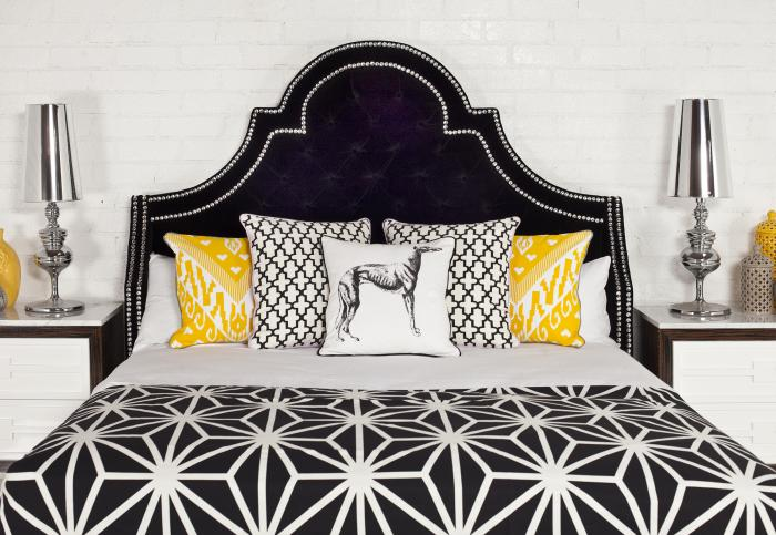 Bel Air Bed In Black Velvet. Please Visit The New ModShop Website  Modshop1.com To Order Any Of Our Products, Thank You.