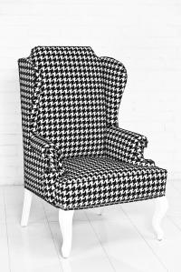 Brixton Wingchair - Black&White Houndstooth