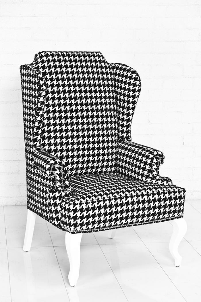 Gray houndstooth chair myideasbedroom com