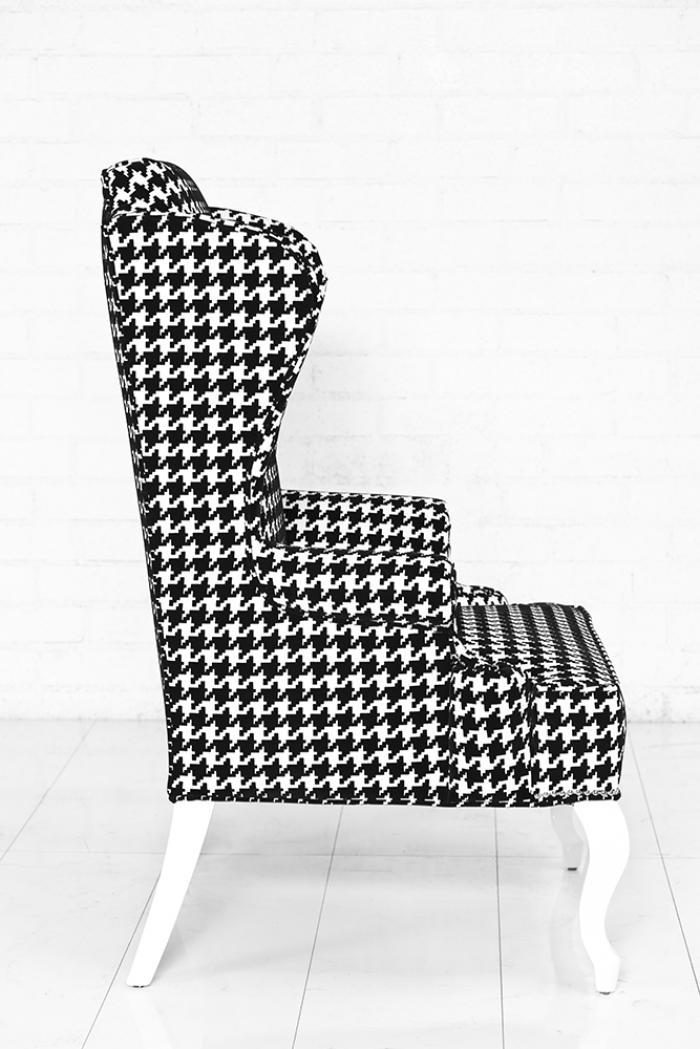 Www Roomservicestore Com Brixton Wingchair Black Amp White