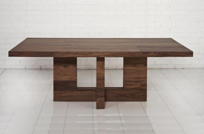 Walnut T Dining Table