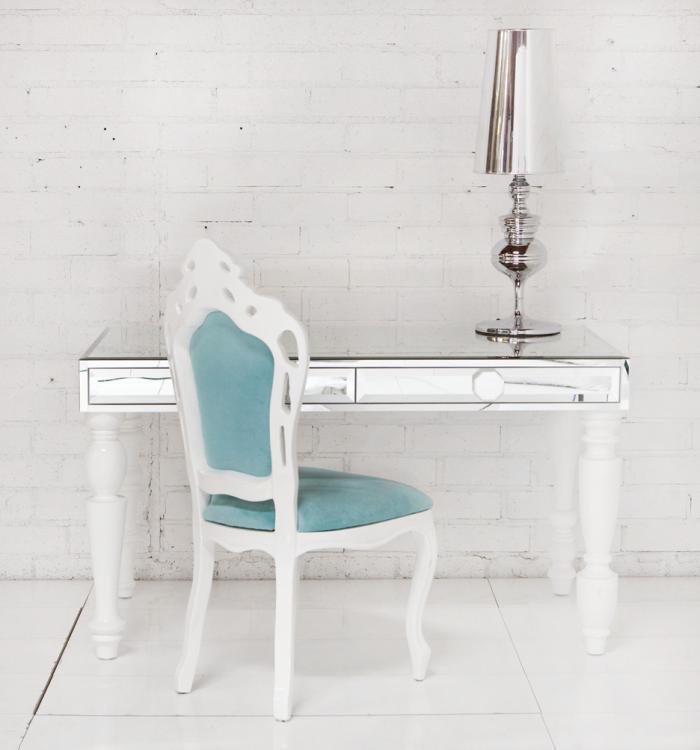 Gloss White Desk Plexiglass Desk Cover