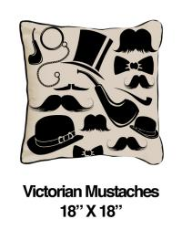 Victorian Mustaches Black Oatmeal