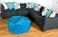 Shoreclub Sectional in Charcoal Textured Fabric