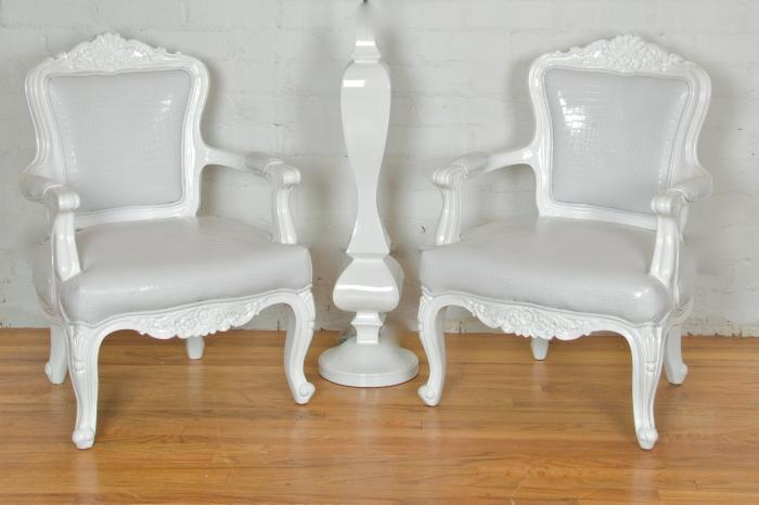 White Regency Philippe Chair