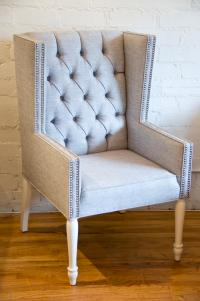 Tufted Mod Wing Dining chair