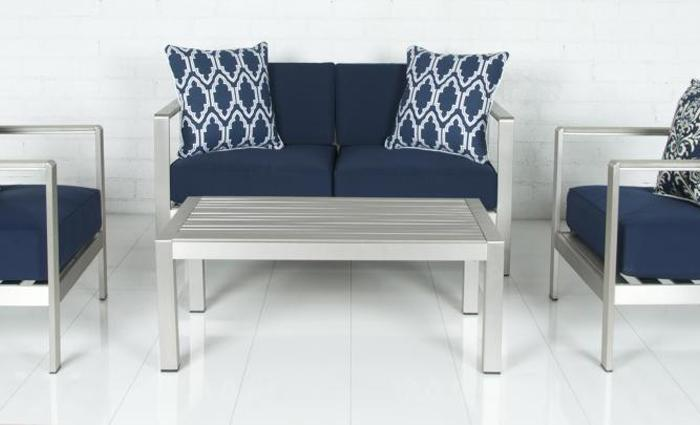 Nautical Aluminum Outdoor  4 pc Set